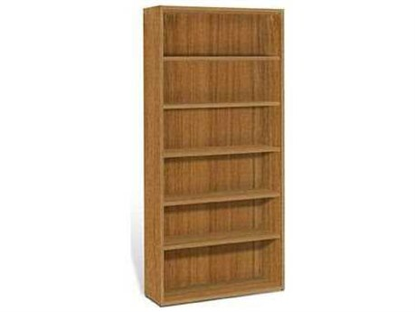 Jesper Office 2000 Collection 40L x 86H Teak Five Shelf Bookcase