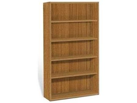 Jesper Office 2000 Collection 40L x 72H Teak Four Shelf Bookcase