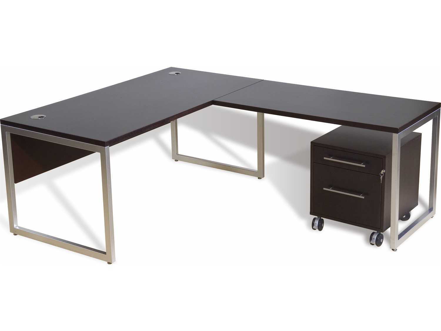 Jesper office 9000 collection 63 39 39 x 80 39 39 l shaped desk with return and mobile pedestal 9803 - Jesper office desk ...