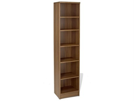 Jesper Office 100 Collection 16L x 72H Walnut Narrow Bookcase