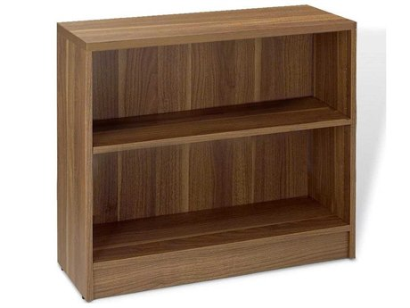 Jesper Office 100 Collection 32L x 29H Walnut Low Bookcase