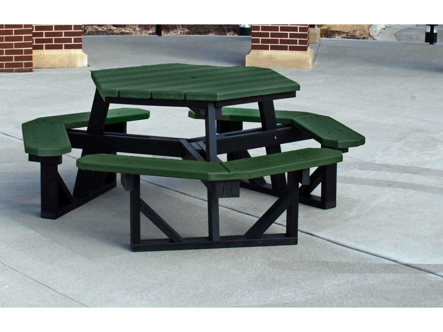 Frog Furnishings Hex Recycled Plastic 6 ft 69 5 x 69 5 Hexagon