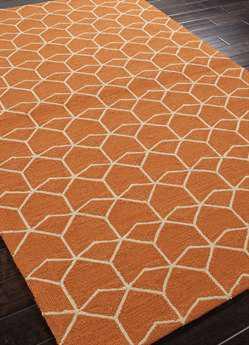 Jaipur Barcelona I-o Modern Orange Hand Made Synthetic Geometric 9' X 12' Area Rug - RUG100218