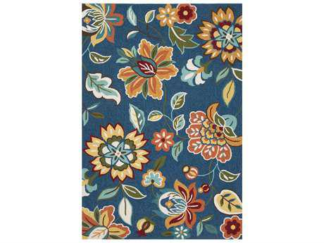 Jaipur Blossom Transitional Blue Hand Made Synthetic Floral/Botanical 2' x 3' Area Rug - RUG122822