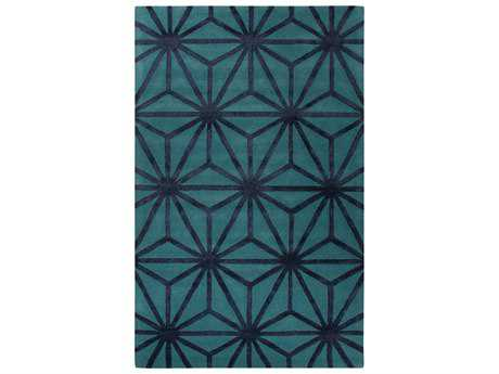 Jaipur City Modern Blue Hand Made Wool Graphic 2' x 3' Area Rug - RUG128101