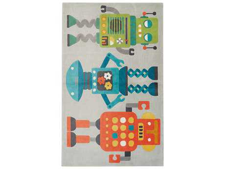 Jaipur Iconic By Petit Collage Modern Gray Hand Made Synthetic Graphic 2' x 3' Area Rug - RUG128543
