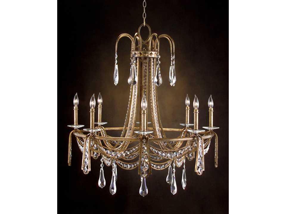 john richard gold eight light 35 39 39 wide chandelier ajc 8675. Black Bedroom Furniture Sets. Home Design Ideas