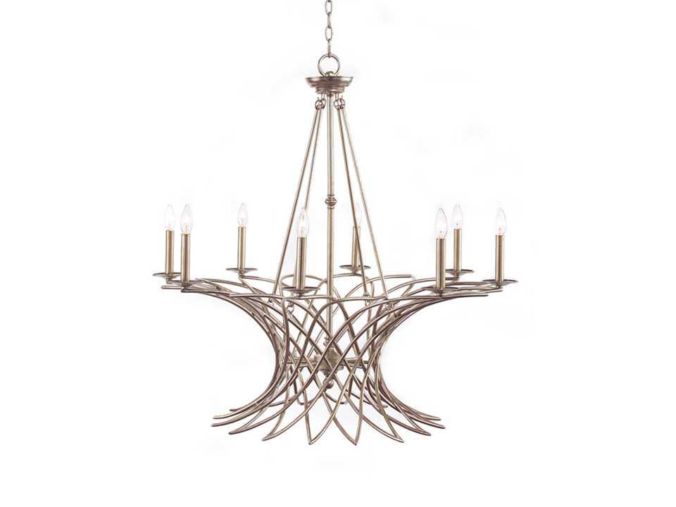 john richard arrezzo silver eight light 39 39 39 wide. Black Bedroom Furniture Sets. Home Design Ideas