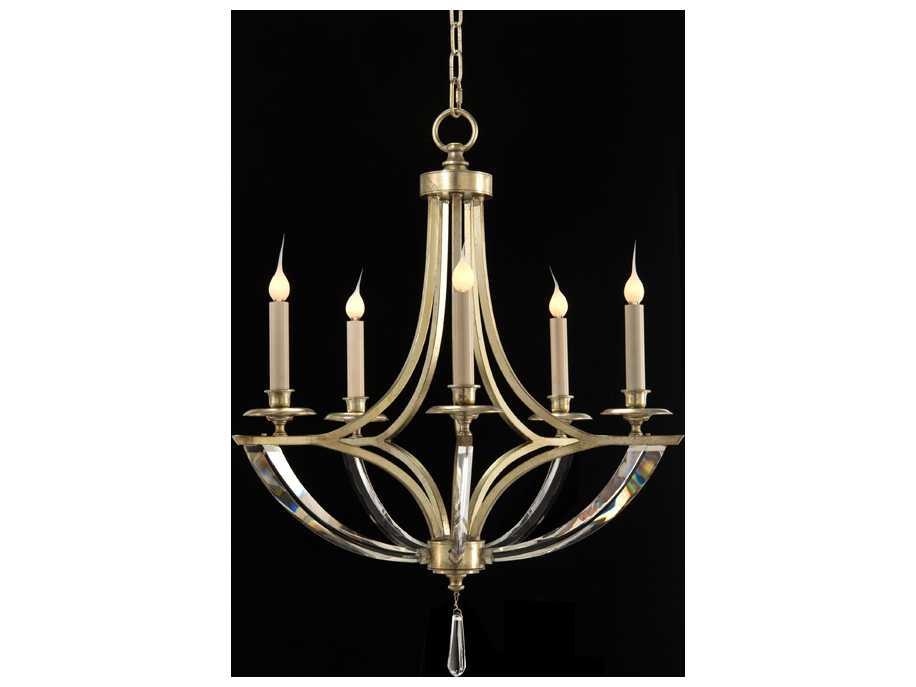 john richard bent crystal five bulb chandelier ajc 8834. Black Bedroom Furniture Sets. Home Design Ideas