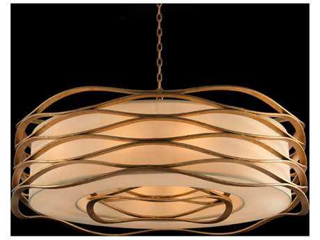 John Richard Ribbons of Gold One-Bulb Pendant