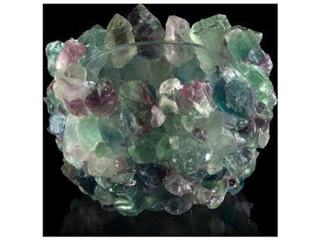 John Richard Mardi Gras Fluorite Bowl