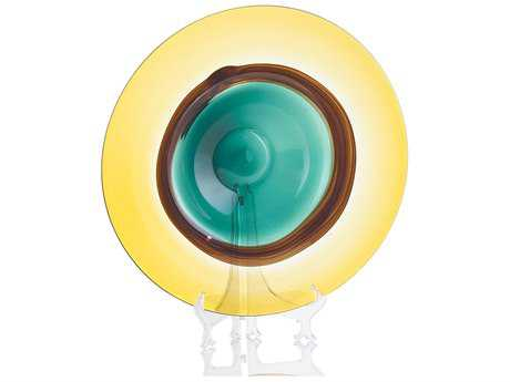 John Richard Green & Yellow Glass Bowl
