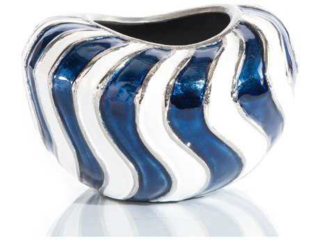 John Richard Waves Of Blue And White Vase