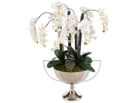 John Richard Transitional Orchid Reflections Decorative Floral Arrangement