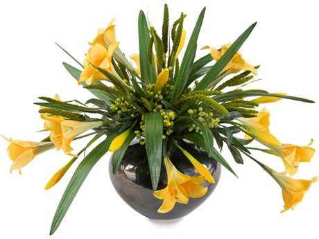 John Richard Transitional Mellow Yellow Decorative Floral Arrangement