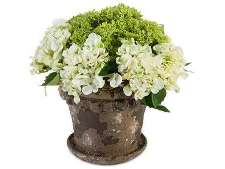 John Richard Crusty Garden Hydrangeas Floral Arrangement