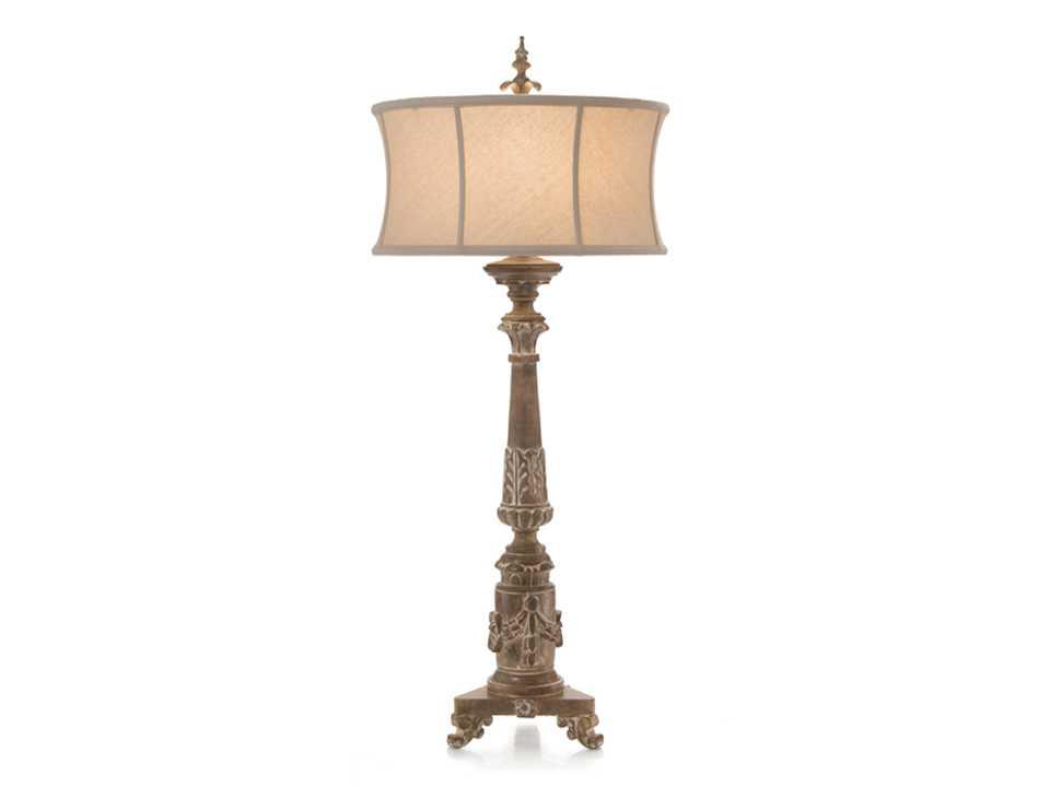 john richard hand carved weather wood buffet table lamp jrl 8971. Black Bedroom Furniture Sets. Home Design Ideas
