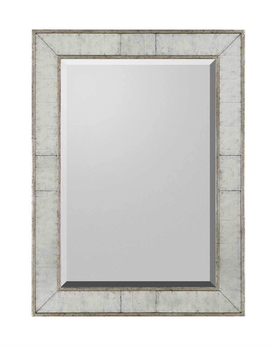 John richard 36 x 48 silver frame bevel wall mirror jrm 0394 for Mirror 48 x 36