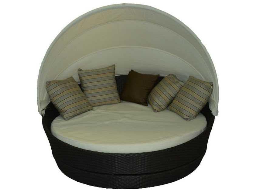 Jaavan Round Wicker Canopy Bed 360 Ja 119