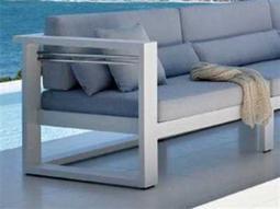Jaavan Pure Aluminum Left Arm Facing Lounge Chair