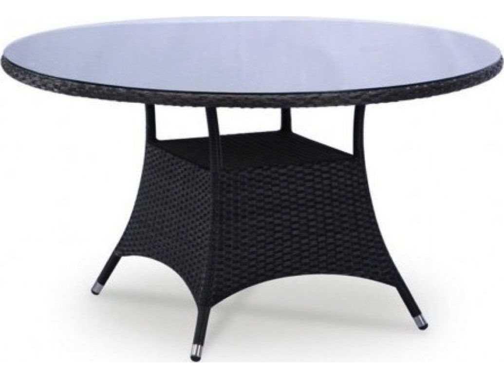Jaavan Bistro Wicker 47 Round Dining Table Glass Not