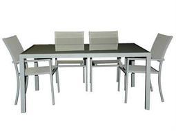 Jaavan Pure Sling Aluminum Dining Set