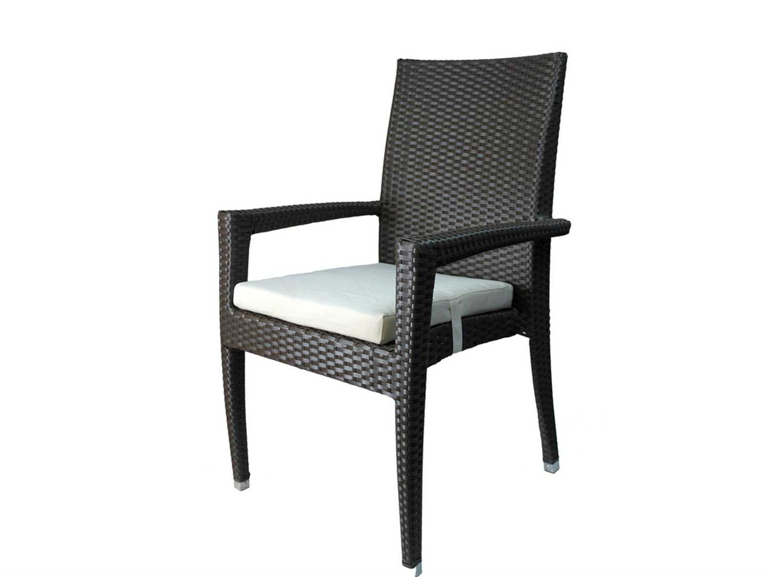 Jaavan Venice Cushion Wicker Dining Arm Chair
