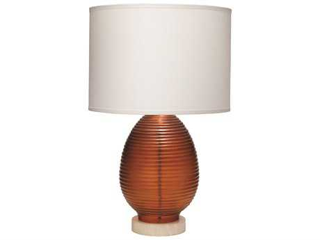 Jamie Young Company Ribbed Egg Orange Large Table Lamp