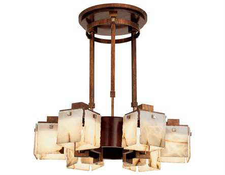 Kalco Lighting Bedford Six-Light 30'' Wide Chandelier with Wood Accents