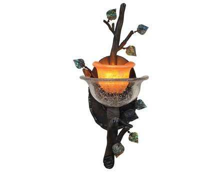 Kalco Lighting Cottonwood ADA Wall Sconce Sienna Bronze / Art Glass - 2510SB-CALC