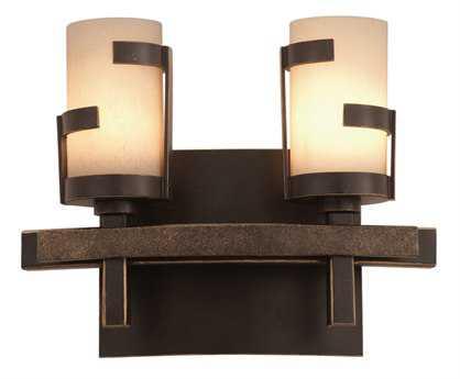 Kalco Lighting Emsworth Tawny Port Two-Light Vanity Light