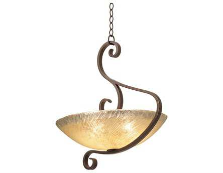 Kalco Lighting G-Cleft Five-Light Pendant Antique Copper / G3354 - 4066AC-G3123