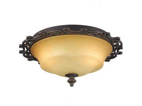 Kalco Lighting Hamilton Two-Light Flush Mount Copper Claret - 4440CC