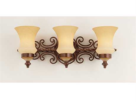 Kalco Lighting Hamilton Three-Light Vanity Light Copper Claret - 4443CC
