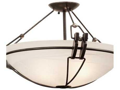 Kalco Lighting Grande Three-Light Semi-Flush Mount Light Antique Copper - 4844AC-G3107