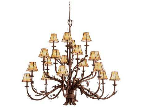 Kalco Lighting Ponderosa 20-Light 60'' Wide Grand Chandelier No Shade - 5030PD-No Shade
