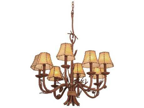 Kalco Lighting Ponderosa Eight-Light 26'' Wide Chandelier No Shade - 5031PD-No Shade