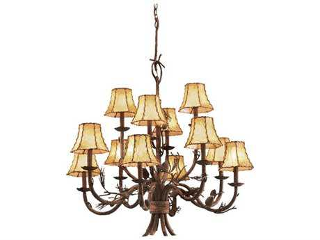 Kalco Lighting Ponderosa 12-Light 34'' Wide Chandelier No Shade - 5032PD-No Shade