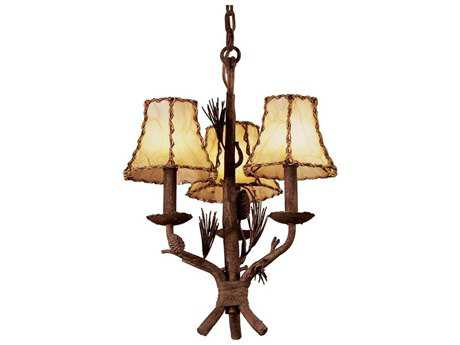Kalco Lighting Ponderosa Three-Light 16'' Wide Chandelier No Shade - 5034PD-No Shade