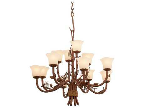 Kalco Lighting Ponderosa 12-Light 34'' Wide Chandelier 1209 - 5042PD-1209
