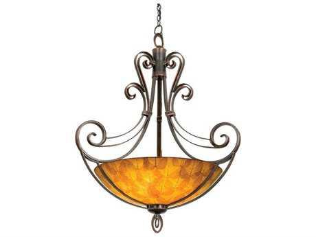 Kalco Lighting Mirabelle Six-Light Pendant Antique Copper / G3110 - 5194AC-G3110