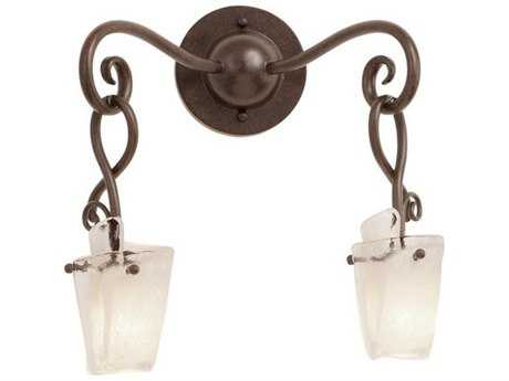 Kalco Lighting Preston Two-Light Wall Sconce Antique Copper / Frost - 5512AC-FROST