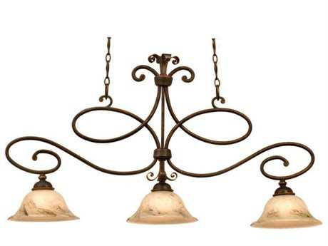 Kalco Lighting Amelie Three-Light Island Light Antique Copper / 1209 - 5533AC-1209