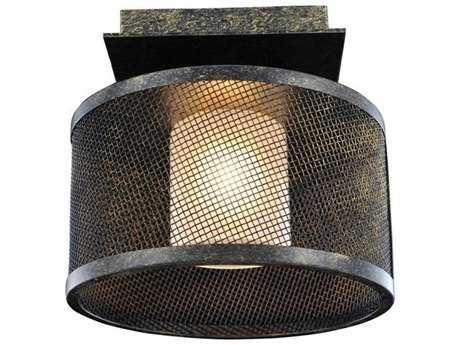 Kalco Lighting Stanley Volcano Bronze Semi-Flush Mount Light
