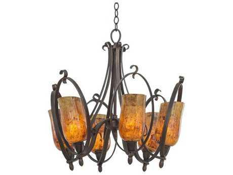 Kalco Lighting Mateo Six-Light 24'' Wide Chandelier Hierloom Bronze / Matte Opal Glass - 7238FI-OPAL