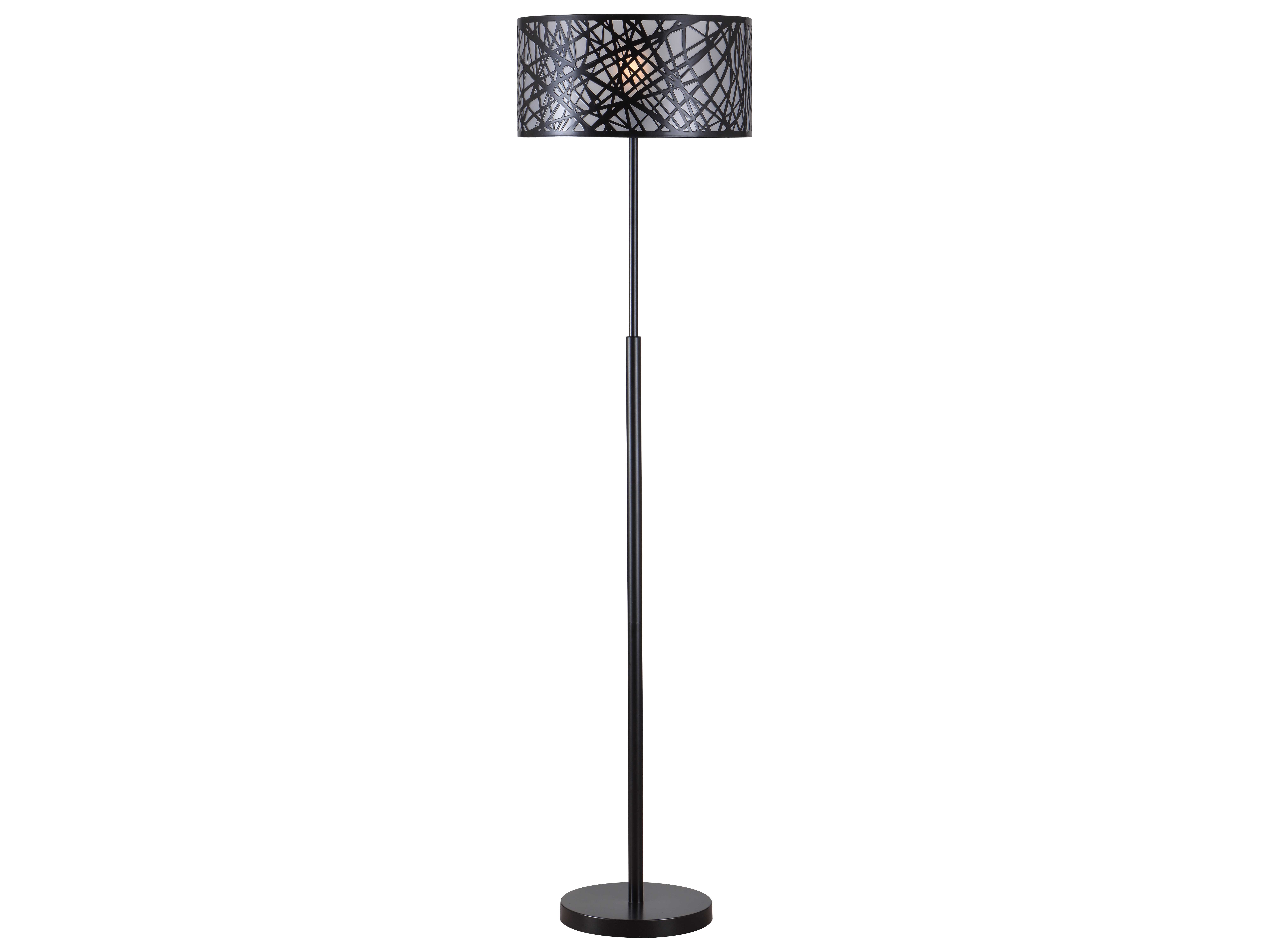 Kenroy home bramble black floor lamp 32771bl - Kenay home lamparas ...