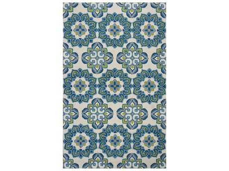 KAS Marbella Transitional Blue Hand Made Wool Damask 2'3