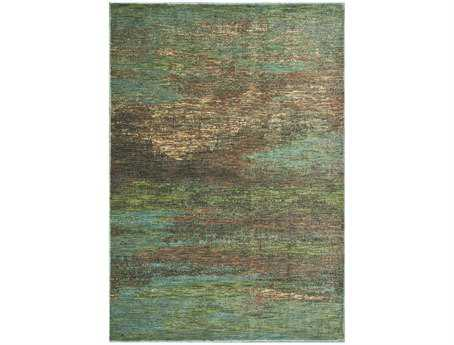KAS Zen Transitional Blue Machine Made Synthetic Abstract 2'3