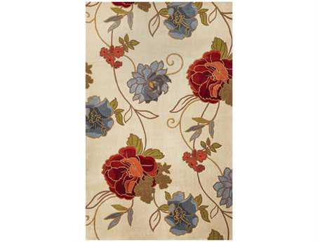 KAS Catalina Transitional Beige Hand Made Wool Floral/Botanical 7'9