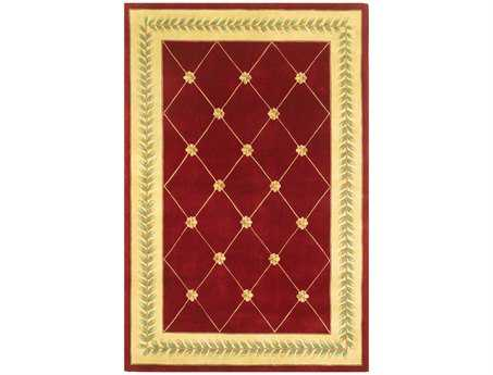 KAS Ruby Traditional Red Hand Made Wool Floral/Botanical 2'6